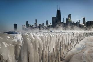 Afbeeldingsresultaat voor Chicago in the winter of 2019