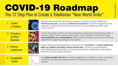 "NWO Archive on Twitter: ""COVID-19 ROADMAP The twelve step plan to create a  totalitarian ""NEW WORLD ORDER"" 1-4… """